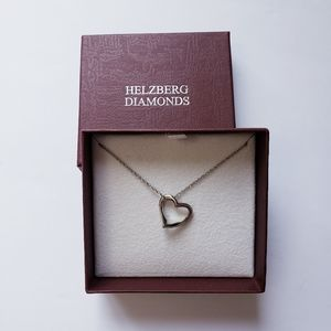 Helzberg Diamonds Silver  Open Heart  Necklace